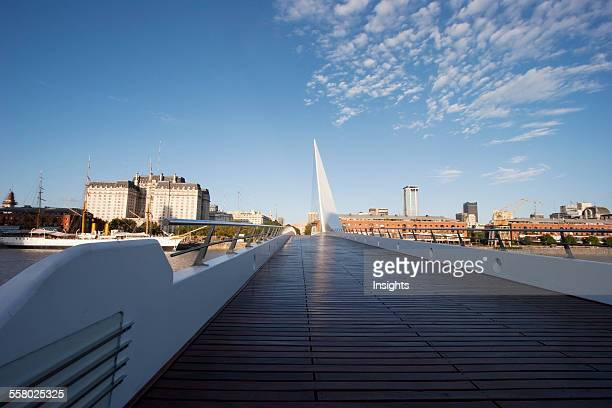 Santiago Calatrava's Puente De La Mujer In Puerto Madero Buenos Aires Capital Federal Argentina