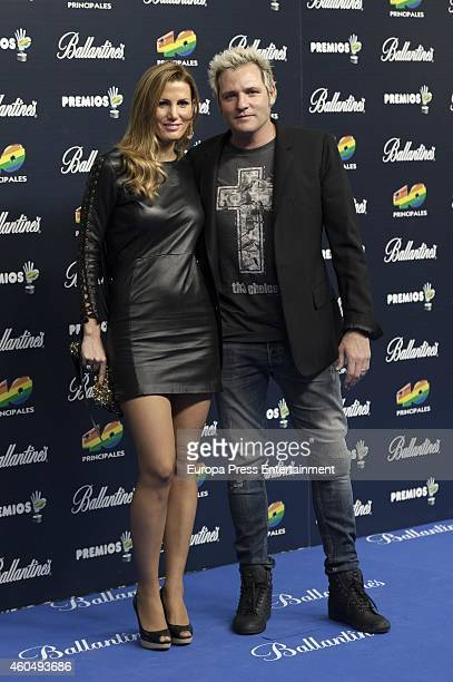 Santiago Canizares and Mayte Garcia attend the '40 Principales' awards 2014 ceremony on December 12 2014 in Madrid Spain