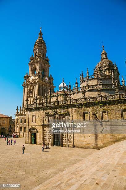 santiago cathedral in galicia - cattedrale di san giacomo a santiago di compostela foto e immagini stock