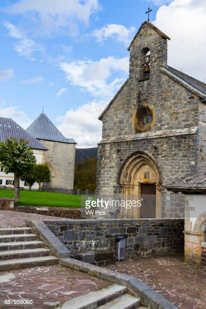Santiago chapel Roncesvalles Way of St James Navarre Spain Europe