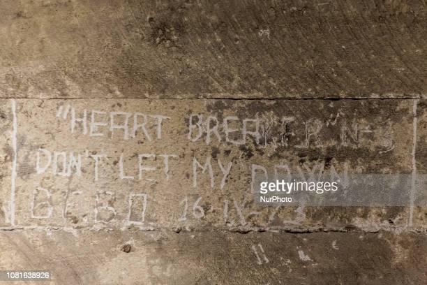 Santiago Chile 12 January 2019 En una de las paredes de la escotilla se ve el texto de una canción de los Beatles quotno me decepcionesquot Recovery...