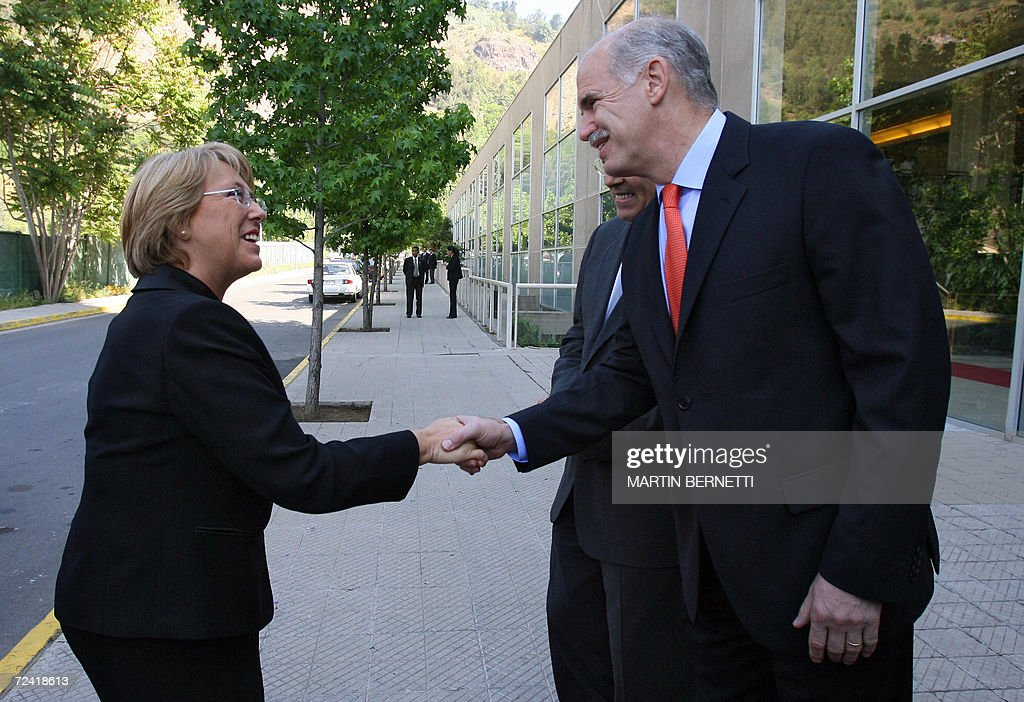 The President of Chile, Michelle Bachele : News Photo