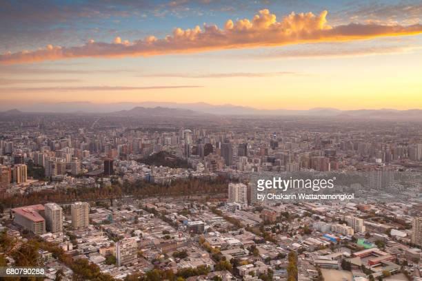 Santiago City at Sunset.