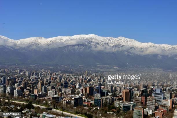 santiago city chile - santiago chile imagens e fotografias de stock