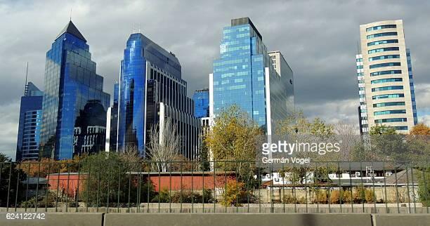 Santiago de Chile financial district skyline