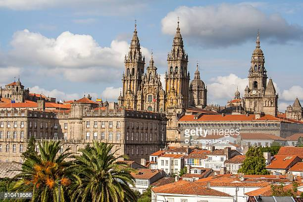 Santiago de Compostela Cathedral and rooftops