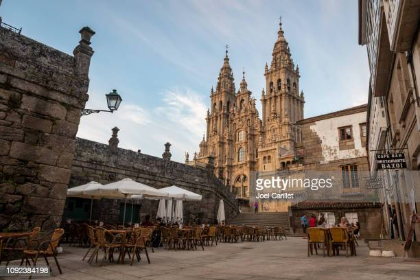 santiago de compostela cathedral - a coruna stock pictures, royalty-free photos & images