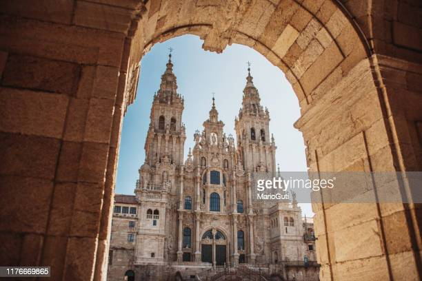 santiago de compostela cathedral - religious celebration stock pictures, royalty-free photos & images