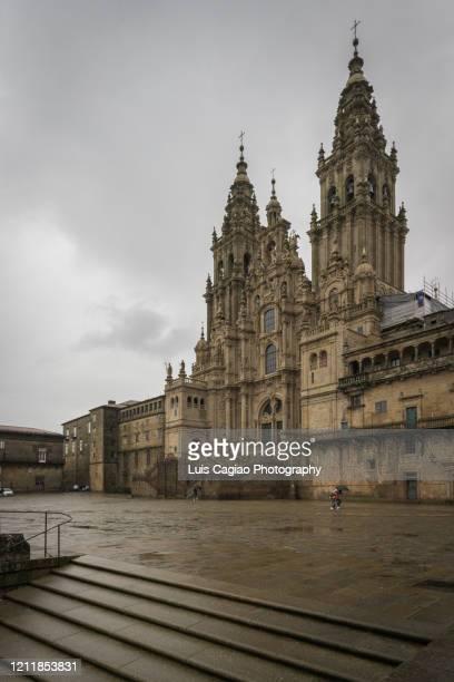 santiago de compostela cathedral - santiago de compostela fotografías e imágenes de stock