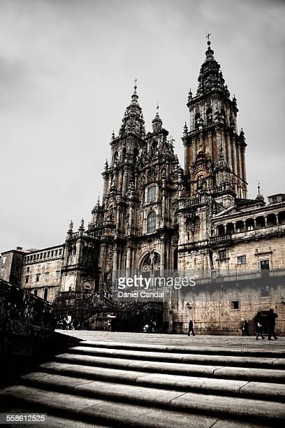 santiago de compostela cathedral - cattedrale di san giacomo a santiago di compostela foto e immagini stock