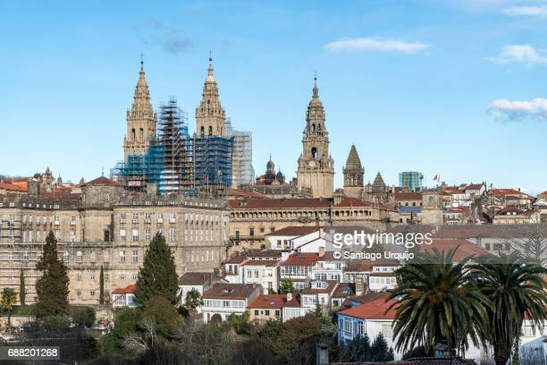 Santiago de Compostela skyline with cathedral on background