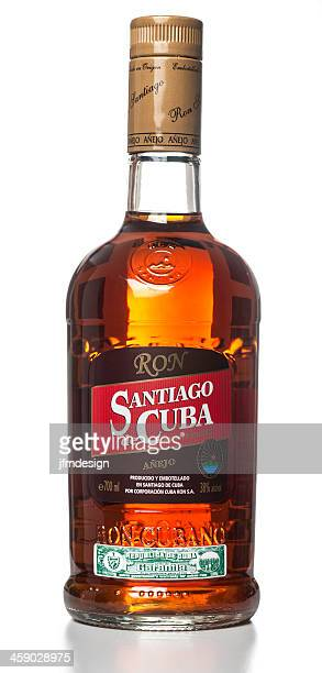 santiago de cuba rum bottle - rum stock pictures, royalty-free photos & images