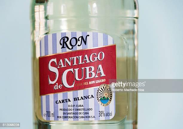 Santiago de Cuba rum bottle The Cuban rhum Santiago is one of the preferred brands by the Cuban people