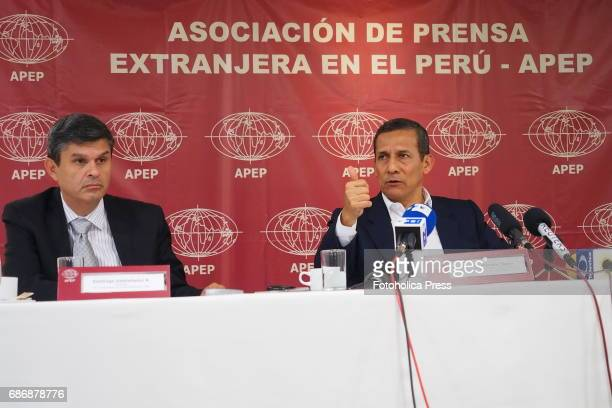 Santiago Gastañadui former congressman and Ollanta Humala former president gave a press conference to foreign correspondents accredited in Peru in...