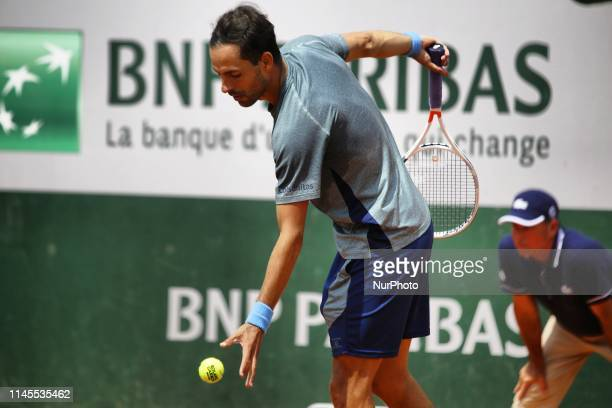 Santiago Giraldo during a match between Santiago Giraldo of COL vs Gianluca Mager of ITA in the second round qualifications of Roland Garros, in...