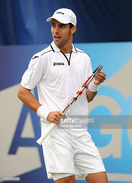 Santiago Giraldo of Colombia looks on during his Men's Singles first round match against Jesse Levine of Canada on day one of the AEGON Championships...