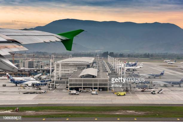 santiago international airport - santiago chile stock pictures, royalty-free photos & images