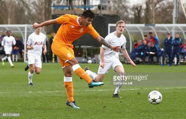 Santiago Javier Irala Vera of FC Porto scores his sides second goal during the UEFA Youth League group H match between Tottenham Hotspur and FC Porto...