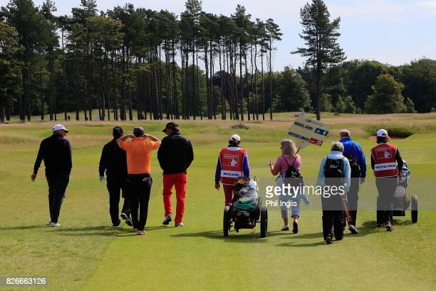 Santiago Luna of Spain in action during the second round of the Scottish Senior Open at The Renaissance Club on August 5 2017 in North Berwick...