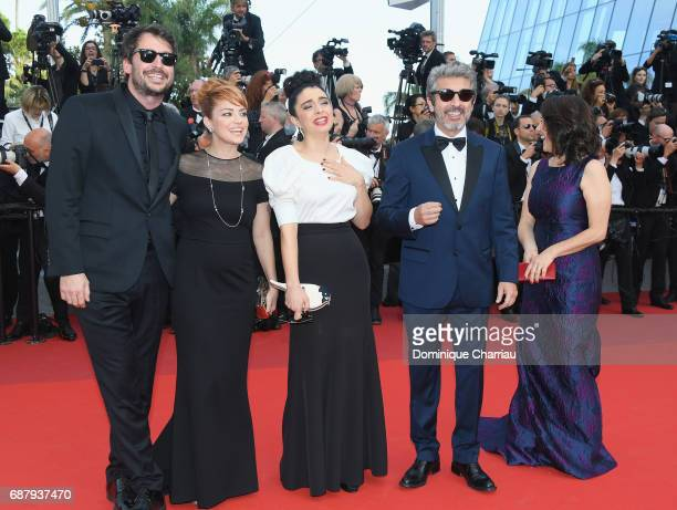 Santiago Mitre Dolorez Fonzi Erica Rivas Ricardo Darin and a guest attend the 'The Beguiled' screening during the 70th annual Cannes Film Festival at...