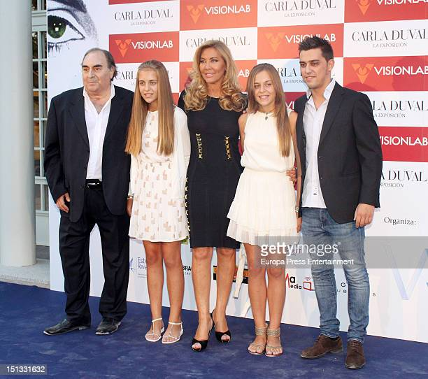 Santiago Paredes Andrea Paredes Duval Norma Duval and Paula Paredes Duval attend the painting exhibition of Carla Duval at Casa de Vacas on September...
