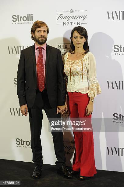 Santiago Pedraz Paula Arenas MartinAbril attend the 'Hubert de Givenchy' exhibition opening cocktail on October 20 2014 in Madrid Spain