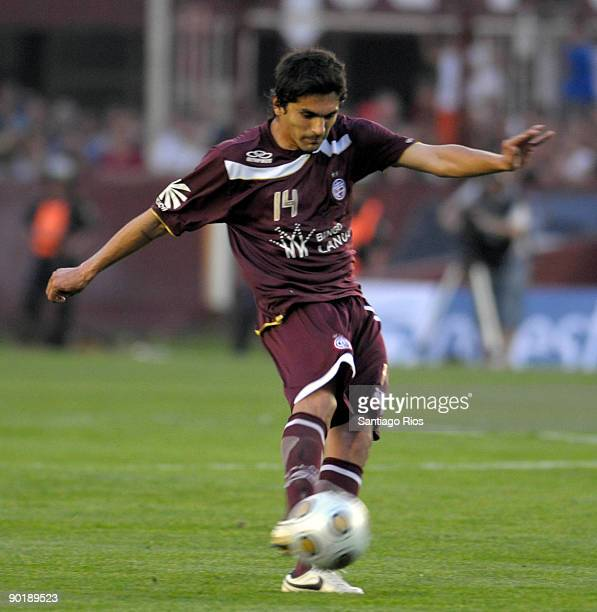 Santiago Salcedo of CA Lanus during the match against Boca Juniors for the Argentina's first division on August 30 2009 in Buenos Aires Argentina