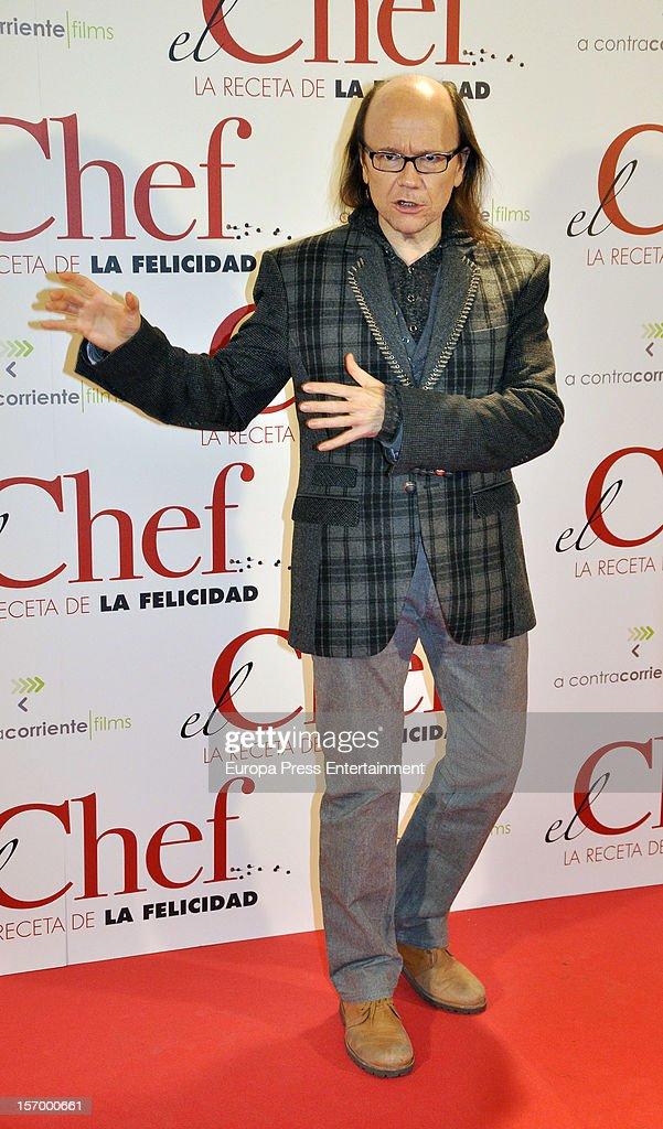 Santiago Segura attends 'El Chef, La Receta de la Felicidad' premiere on November 26, 2012 in Madrid, Spain.