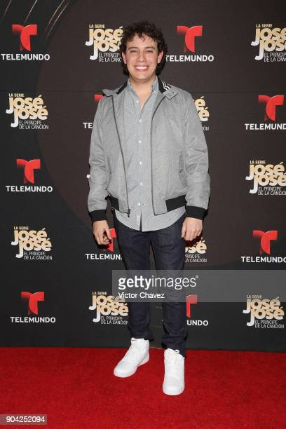 Santiago Stephens attends the 'Jose Jose El Principe De La Cancion' Telemundo tv series premiere at Four Seasons hotel on January 11 2018 in Mexico...