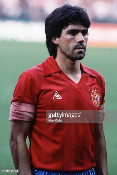 Santiago Urquiaga during the Football European Championship between Romania and Spain at Stade Geoffroy Guichard SaintEtienne France on 14 June 1984