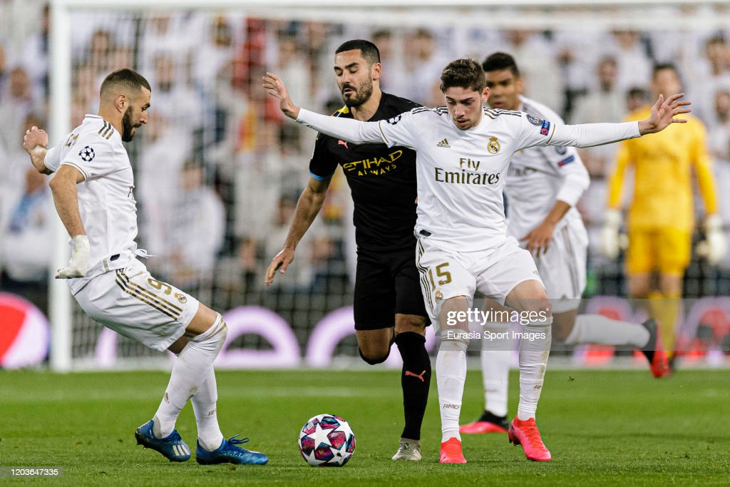 Real Madrid v Manchester City - UEFA Champions League Round of 16: First Leg : News Photo