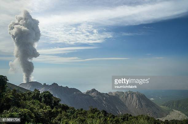 Santiaguito Volcano erruption