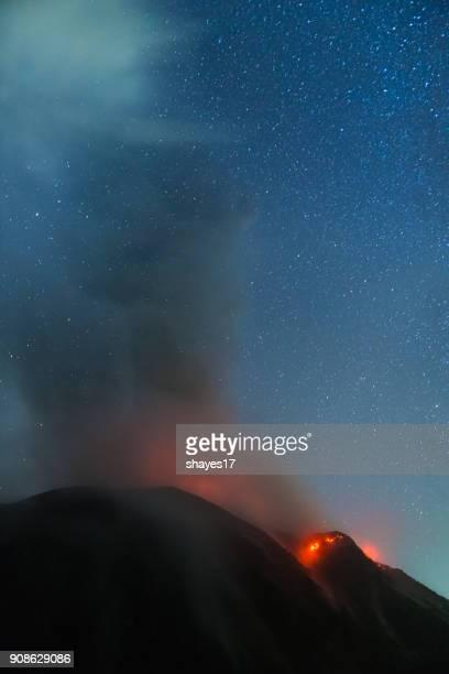 Santiaguito volcano eruption
