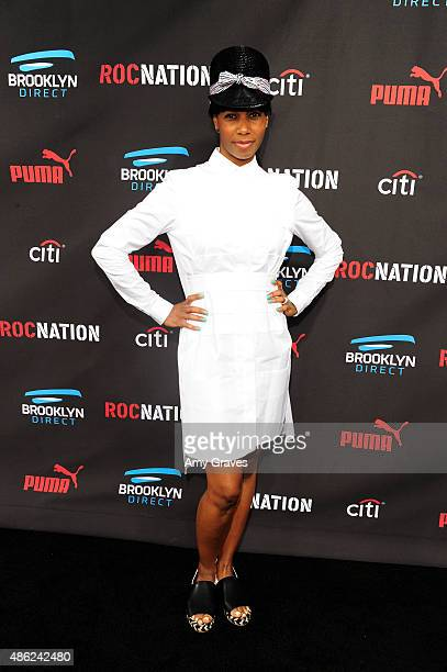 Santigold attends the Roc Nation Grammy Brunch 2015 on February 7 2015 in Beverly Hills California