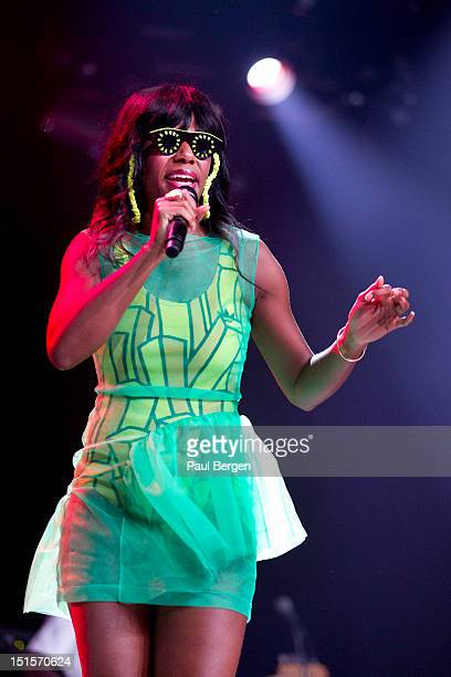 Santigold performs on stage, Lowlands festival, Biddinghuizen, Netherlands, 18 August 2012.