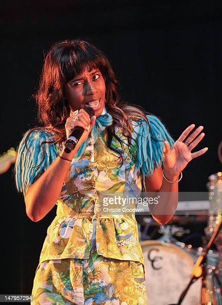 Santigold performs on stage on Day 1 of Wireless Festival at Hyde Park on July 6, 2012 in London, United Kingdom.