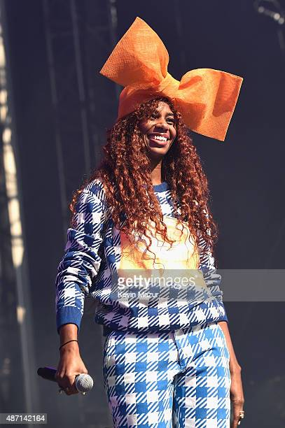 Santigold performs onstage during the 2015 Budweiser Made in America Festival at Benjamin Franklin Parkway on September 6 2015 in Philadelphia...