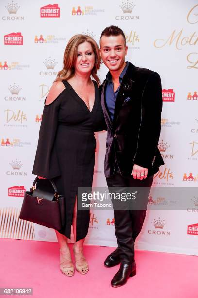 Santina and Anthony Callea arrive ahead of the Crown Celebrity Mother's Day Luncheon on May 12 2017 in Melbourne Australia