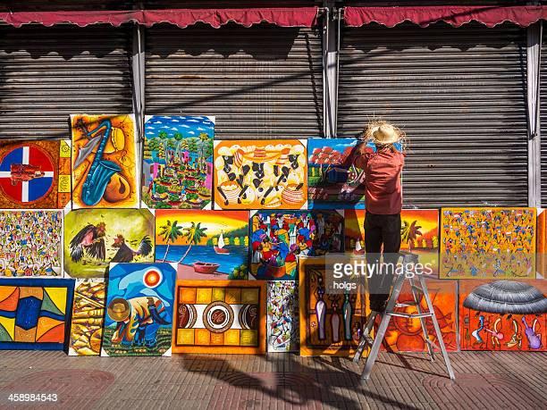 santo domingo art stall - santo domingo dominican republic stock pictures, royalty-free photos & images