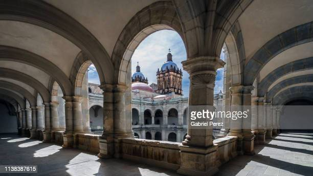 santo domingo de guzman catholic church - oaxaca stock pictures, royalty-free photos & images