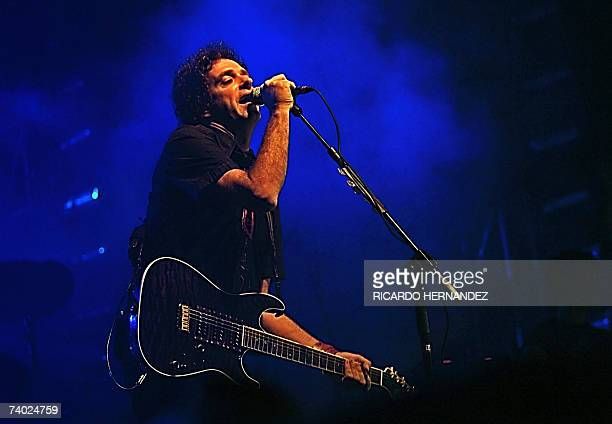 Argentine musician Gustavo Cerati performs during his presentation in Santo Domingo on April 29th 2007 AFP PHOTO/Ricardo Hernandez