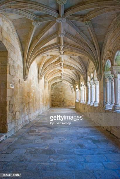 santo estevo monastery cloister - cloister stock pictures, royalty-free photos & images