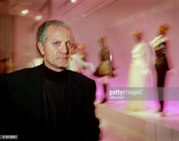 Santo Versace brother of slain fashion designer Gianni Versace tours the exhibit of Versace fashions 08 December at the Costume Institute at the...
