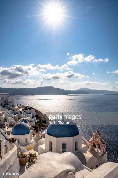 santorini, greece, europe - 丸屋根 ストックフォトと画像