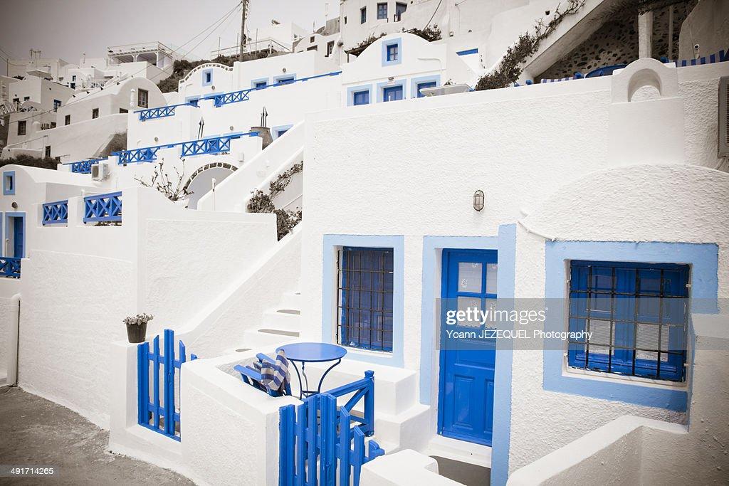 Santorini houses, Greece : Stock Photo