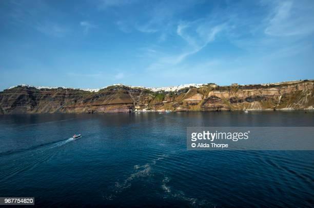 Santorini in the Distance