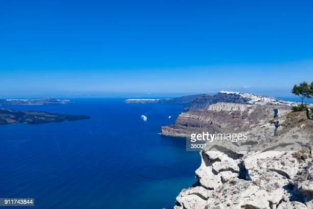 santorini island caldera view, the cyclades, greece