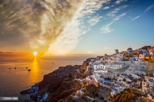 santorini oia village, greece - greek orthodoxy stock pictures, royalty-free photos & images