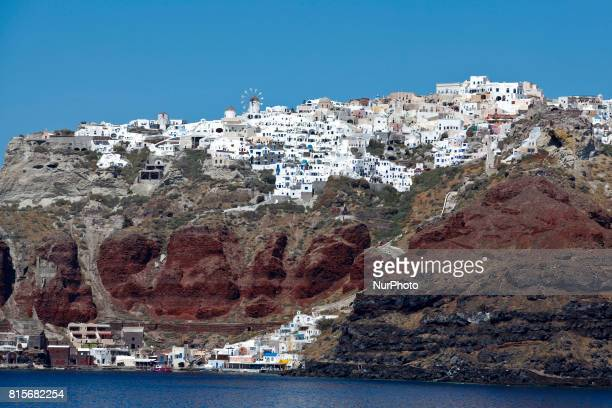 Santorini one of the most famous and romantic islands in the world located in the Aegean sea in Greece Santorini is still an active volcano and many...