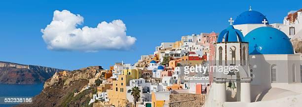 Santorini panorama in Oia on Greece